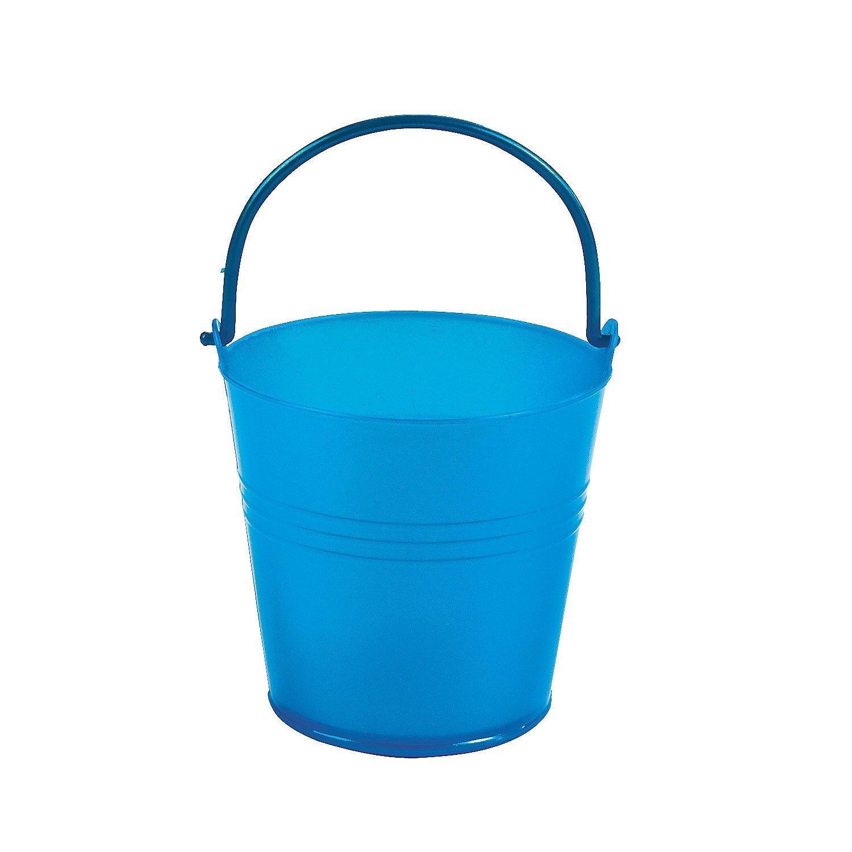 Fun Express Bright Blue Plastic Pails (1 Dozen)