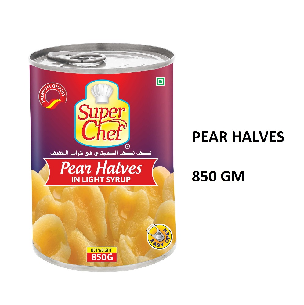 Singapore Food Supplies Super Chef Pear Halves In Light Syrup - Buy  Singapore,Pear Halves,Canned Food Product on Alibaba com