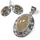 Export Quality Rutilated Quartz Silver Pendant Set