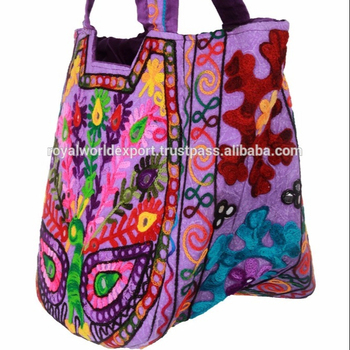 ea1d00d08553 Rajasthani Unique Designer Ladies Hand Bags Suzani Ebroidery Matka Latest  Shoulder Bag