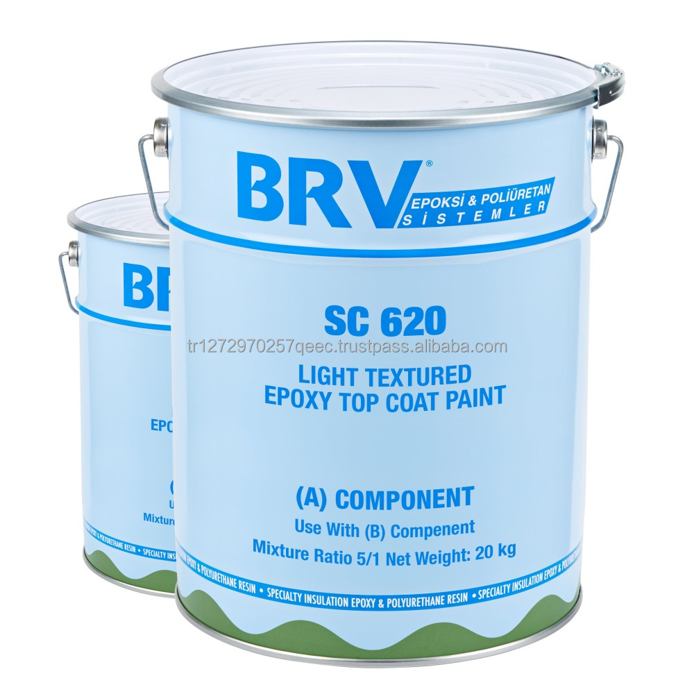 2K Solvent-free, Ligth Texture Epoxy Paint for Wood & Concrete Surfaces, High Mechanical Strength & High Abrasion Resistance