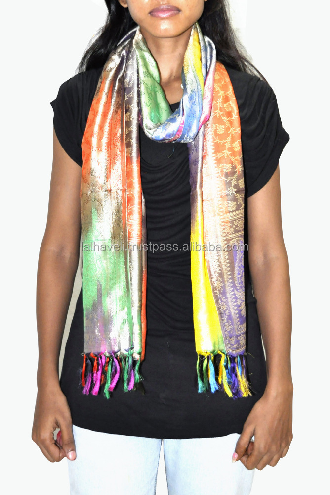 Latest Designer Stoles Daily Wear Scarf Ladies Stoles And Shawls Party Wear Stole Silk
