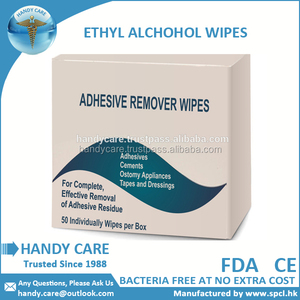 Adhesive Remover Ethyl Alcohol Wipes