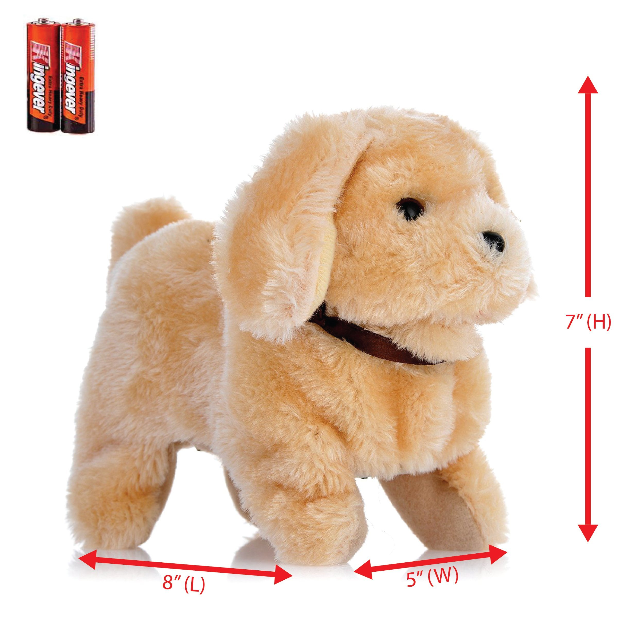 Toysery Chihuahua Puppy Plush Dog Toy Walking Barking Wagging Tail Lucky Kids Pet Toy - Battery Operated