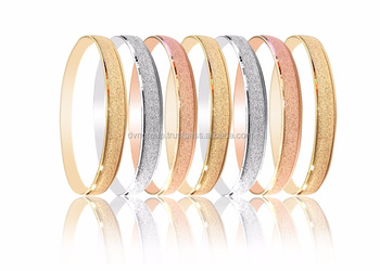 1d2020bf91d25 Half Round Diamond Dull Three Tone Plated 5 Mm Semanario Bangles - Buy Gold  Plated Bangles,3 Tone Plated Bangles,5 Mm Semanario Bangles Product on ...
