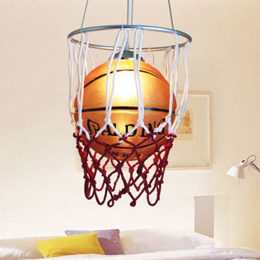 AMOS Lamps Children 's Room Chandeliers LED Children' S Room Basketball Chandeliers Cartoon Basketball Lighting Glass Bar Chandeliers