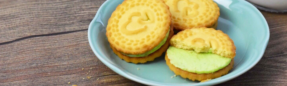 Pandanus Cream Filled Sandwich Biscuits from Thailand