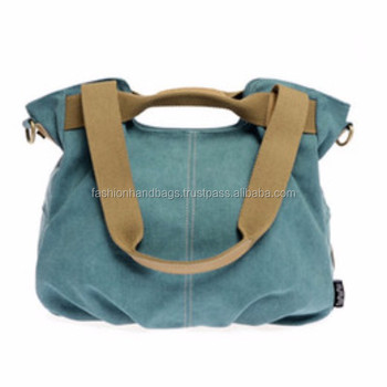 Heavy duty designer canvas tote shoulder bags