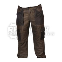 Customize Mens pure Hunting Leather Pants Trousers factory price / Leder Hosen