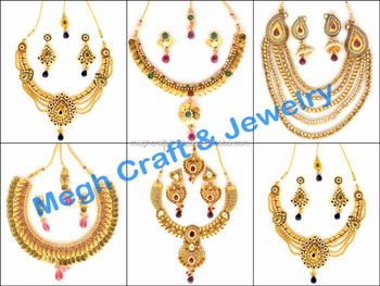 Fashion Bridal Jewellery Ethnic Gold Necklace Wedding Gujarati