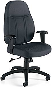 """Offices To Go Executive Office Chair Overall Dimensions: 27.5""""W X 34.5""""H X 16.5""""D Seat Height: 16.5-20.5"""" Seat Size: 21""""W X 18.5-20""""D Back Size: 20""""W X 25.5""""H - Black Quilt"""