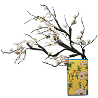 wholesale chinese porcelain flower vase yellow vases blue VASE flower
