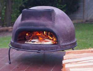 Wood-Fired Tuscan stone table-top Pizza Oven Ex Netherlands