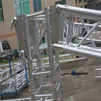 cube corner/box corner for aluminum spigot truss/bolt roof truss system