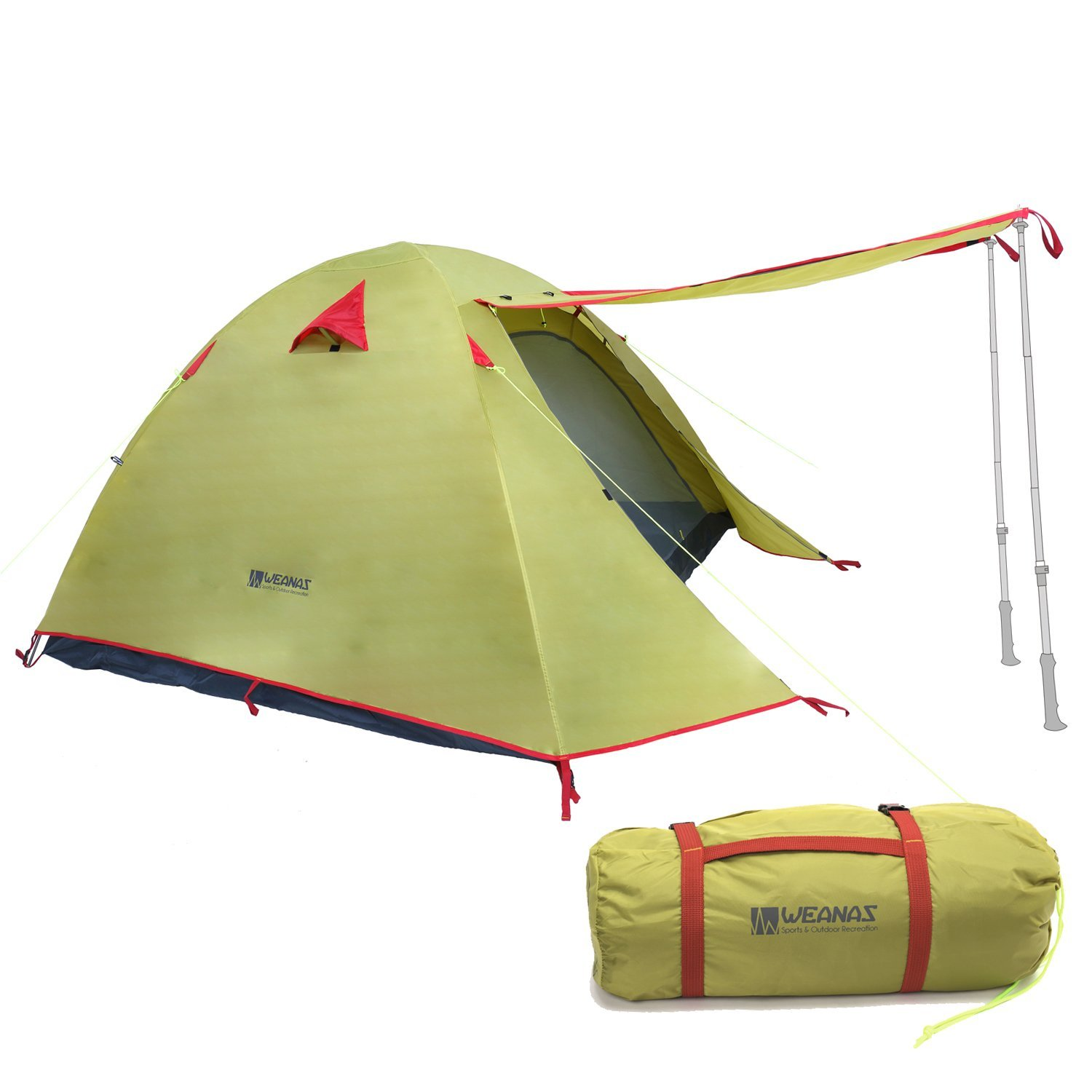 Get Quotations · WEANAS Professional Backpacking Tent 2 3 4 Person 3 Season Weatherproof Double Layer Large Space Aluminum  sc 1 st  Alibaba & Cheap Four Season Family Tent find Four Season Family Tent deals ...