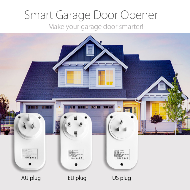 Tuya WiFi Garage Door Controller for Car Garage Door Opener APP Remote Control Timing Voice Control Alexa Google