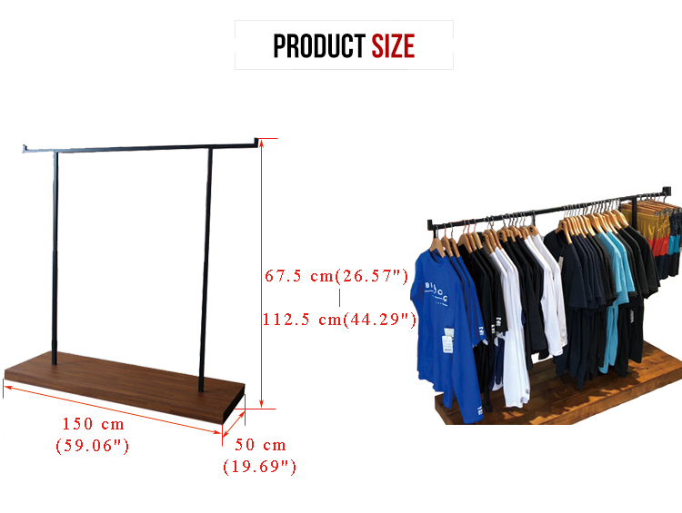 shopping mall floor retail garment store display for adult and child