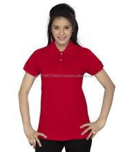 Custom OEM design blank women polo t-shirts