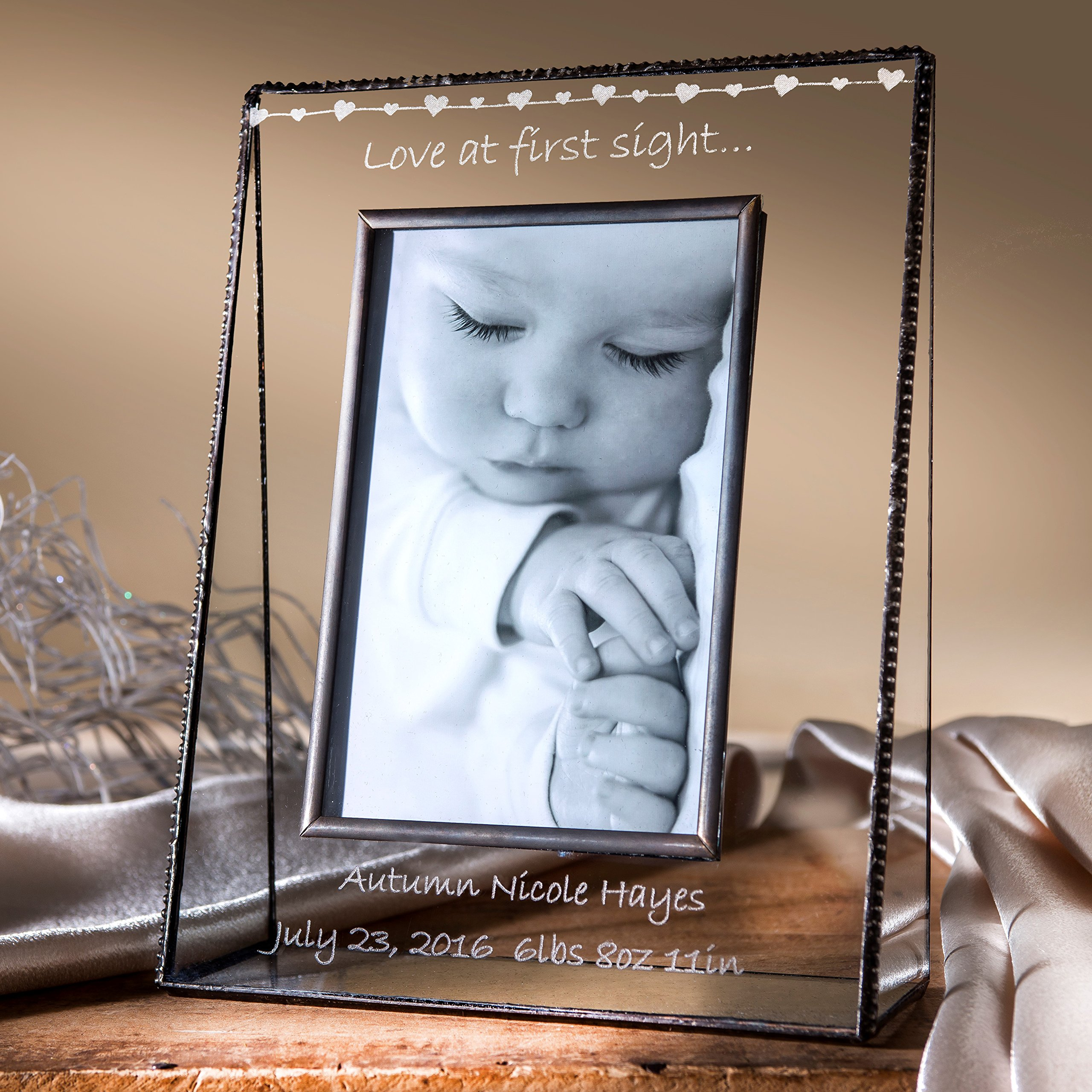 J Devlin Pic 319-46V EP558 Baby Love at First Sight 4x6 Vertical Personalized Picture Frame Baby