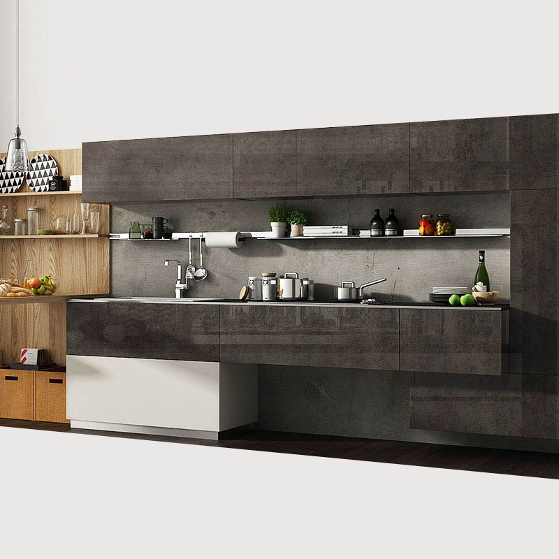 OPPEIN luxury german natural style modular kitchen <strong>cabinets</strong>