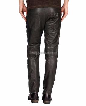 570c4cb8b2b93 Custom Mens Leather Pants Men Black Leather Biker Pants Sexy Leather Pants  Men Wholesale