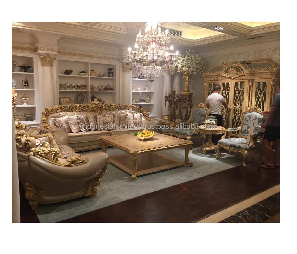 In Stock Luxury Living Room Carved Sofa Furniture - Italian ...