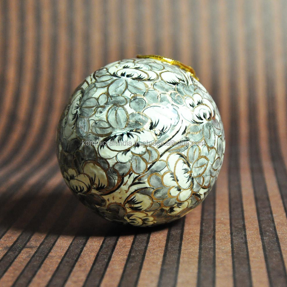 Paper Mache Christmas Ornament.Abstract Design Hand Painted Indian Paper Mache Christmas Decorations Hanging Ornament Ball Bauble Buy Christmas Decorations Christmas Hanging