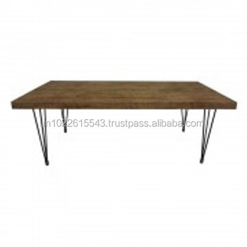 Industrial Dining Table Hairpin Leg Buy Wooden Dining Table