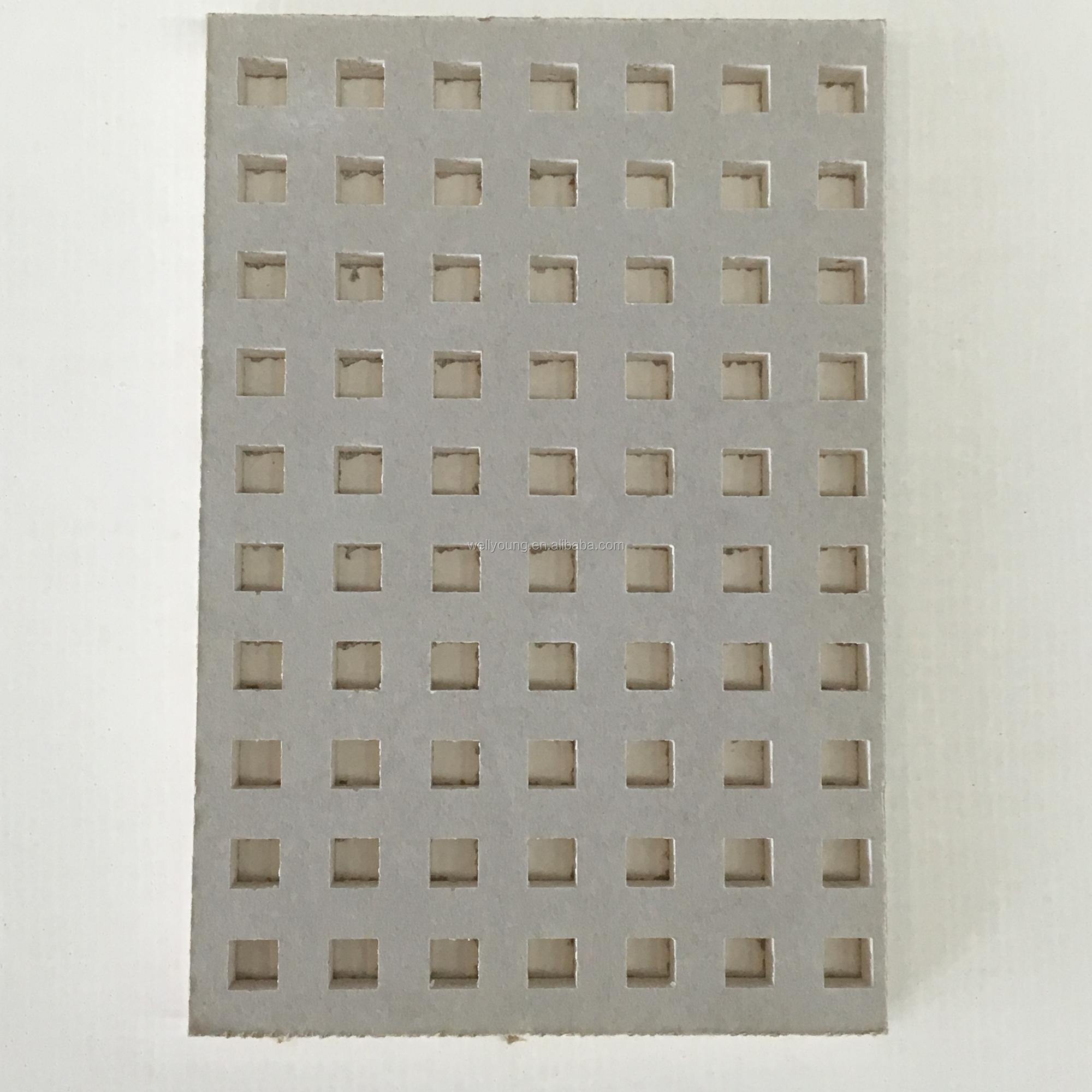 perforated board noise insulation gypsum partition wall
