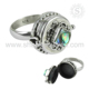Magnificent locker design ring shell gemstone silver jewelry wholesaler online 925 sterling silver rings jewellery exporter