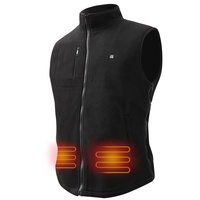 Winter polar whole fleece heated vest for men and women