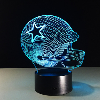 Nfl Touch Lamp 7 Colors Dallas Cowboys Sleeping Led Lampara Acrylic Night Light Buy Nfl 3d Led Lamp Light 3d Led Lamp Light Childrens Acrylic 3d