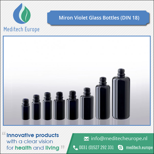 Different Diameter Miron Violet Glass Bottles
