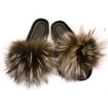 75b59cc58f0 New Design Women's Argentina Fox Fur Slides Ladies Fur Slippers - Buy  Slippers For Women,Beach Slipper,Fox Fur Slides Product on Alibaba.com