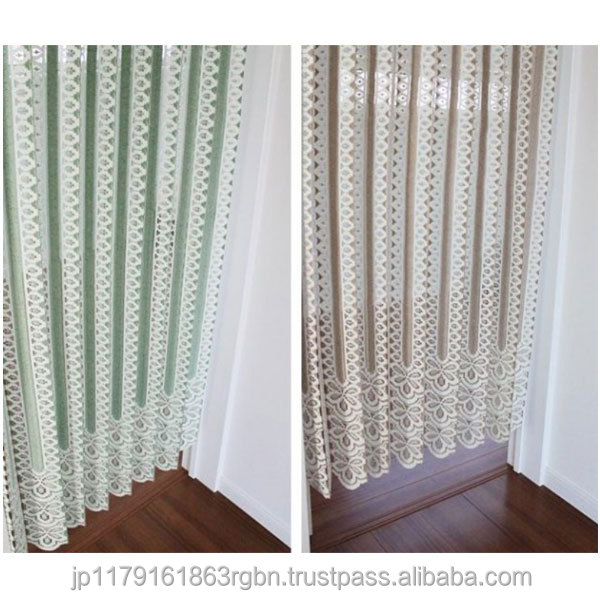 Fashionable And Adjustable Lace Window CurtainsAccordion Doors Curtains With 100 Polyester