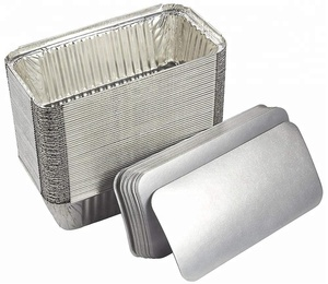 Disposable aluminum foil board lid