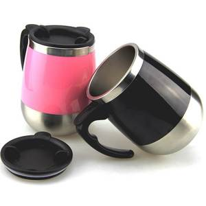 Colorful Surface Stainless Steel Self Stirring Coffee Mug