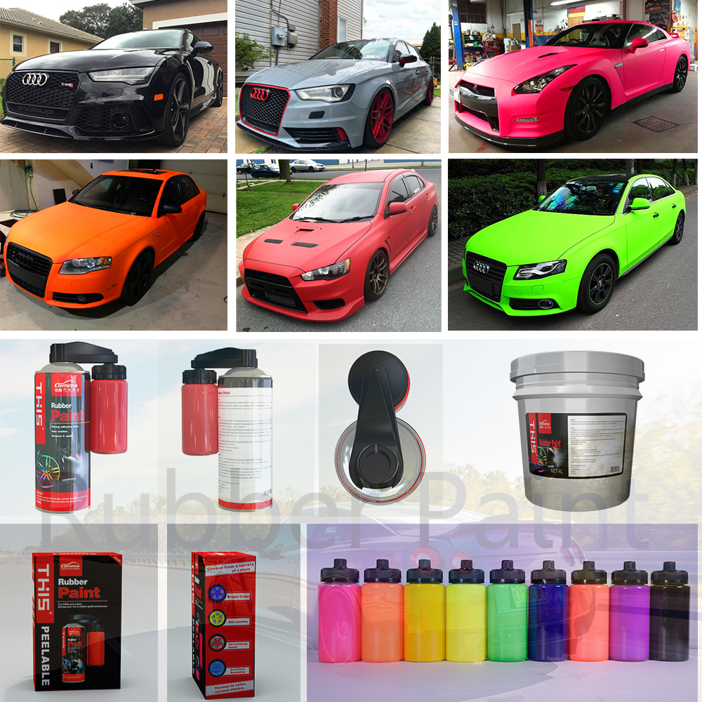 Wholesale voiture exterior car wheel colorful peelable  peeling Vinyl Spray Rubber Paint quick car multi color spray paint
