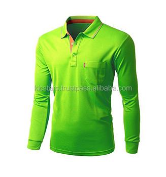 Whole Men Long Sleeve Polo T Shirt