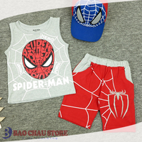 Casual Clothing with 5 Fresh Colors Sleeveless Printed Spider Man 2017 for Kids Boys
