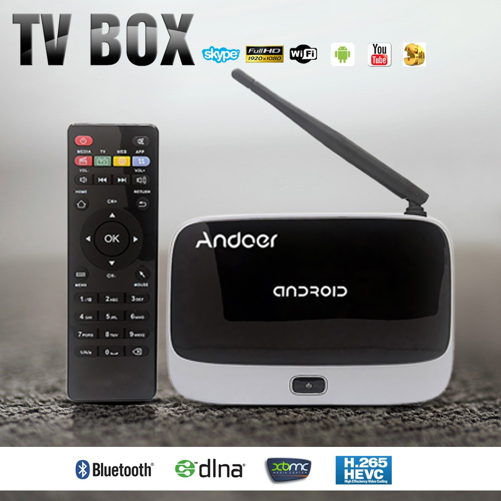 CS-918T 1080P Smart Android 4.4 TV Box Rockchip RK3128 Quad Core ARM with Remote Controller V1131X