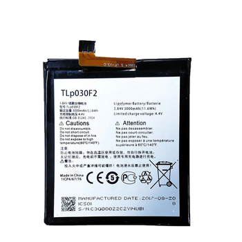 3000mAh OEM Mobile Phone TLp030F2 Battery For BlackBerry DTEK60 Replacement