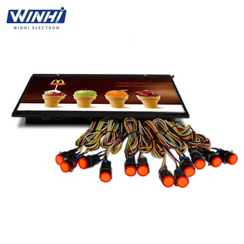 14inch up to 12*led button auto play video retail store digital signage screen display