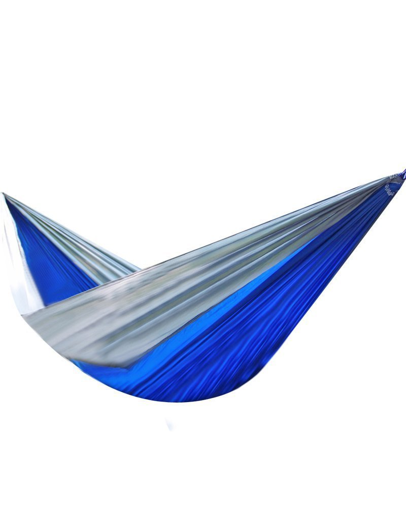 Yikemama Outdoor leisure hammock - Ultra-light Parachute Cloth Hammock Outdoor Camping Leisure Hammock, Size Optional --Ultralight convenient hammock (Dark blue mixed grey)