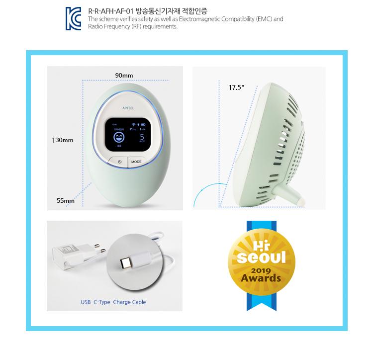 スマート検出器 PM2.5 PM10 tVOC 温度湿度大気モニタリング空気品質測定装置韓国製品
