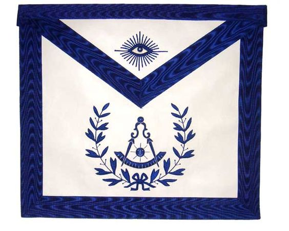 Masonic Regalia Grand Lodge Master Masonic Blue Simple Apron