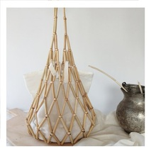 Eco-friendly bamboo perle <span class=keywords><strong>di</strong></span> shopping bag
