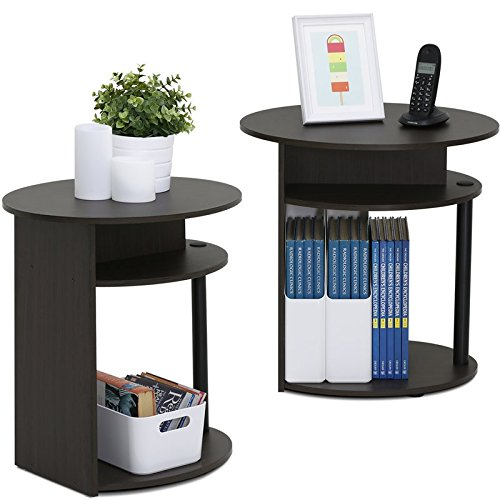 Get Quotations Round End Table Set Of 2 Coffee With Storage Area Side Under