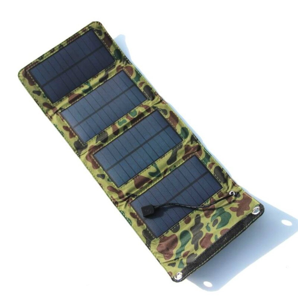 Aoshike 7W 5.5V Solar Panel Power Bank Portable Folding Solar Charger Mobile Power Charging Board Waterproof Outdoor Charging