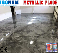 ISONEM METALLIC FLOOR, EPOXY RESIN BASED DECORATIVE FLOORING MATERIAL, HIGH QUALITY, SOLVENT FREE, MADE IN TURKEY